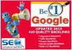 rank your Website High in Google with 410 Backlinks 2015