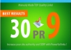 manually do 30 Pr9 Safe SEO High Pr Backlinks