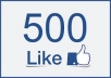 add 500 +Permanent/ Real Facebook likes