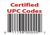 sell 200 UPC EAN Codes Certified Numbers