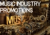 promote your MUSIC Online & Online Radio Stream