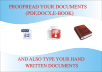 proofread,edit and type your handwritten word doc,pdf,ebook