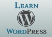 help you learn WORDPRESS and web design