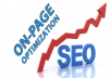 do complete onapage seo optimization of your website