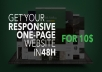 create a Professional, Responsive One Page Website for you