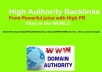Give 100 High Authority Backlinks for Your Website Rank Booster