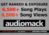 deliver 6,500 Views AND Plays To Your AudioMack Song