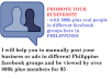 promote your business on Facebook groups here in Philippines with 800k members