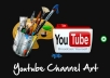 make you a stylish Youtube Channel Art