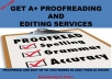 professionally proofread and edit up to 3000 words