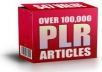 give you 110000 PLR articles