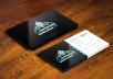 make stylish unique and creative Business Card