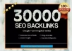 build 30000 SEO backlinks for website ranking