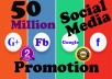 viral your website among 50 million social media users