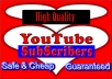 Give You 1000+ Youtube Subscriber SAFE & HIGH QUALITY for Your Channel