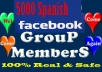 Add 5000 Spanish and English Facebook Group members in 48 hrs