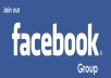 submit your URL to facebook groups wall with 5,000Members