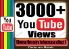 Instantly start 3000+ Bonus Views for Your YouTube Video To Improve Social Media And SEO Ranking