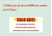 blast your SOLO ads to over 60000 active members in 24 hours