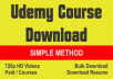send secret to download any udemy courses