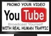 Give you 2000+ Real Human FAST YOUTUBE Views
