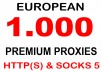 provide a PROXY List 1000 Socks5 Europe 5 Days Access