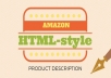 write a html amazon product description