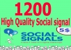 build powerful 1200 social signals from top social sites