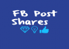 Give you 500+Facebook Post Share only