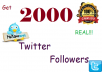 Social networks has always been one of the best platform for online business. Getting Traffic from social media is very important for business,promoting products,popularity etc.  Are you seriously searching for more visitors from social media networks? Relax we can got you covered!  For $5, you will get  * 2000 real Twitter followers in few days. With guarantee 100% satisfaction. x No password needed.   Need more than 2000 followers?  ***BEST BUY WORTH MORE THAN $5 ***