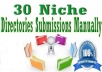 do 30 Niche Directory Submission Manually