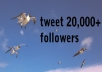 tweet your site or message to my sites 20000 followers