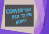 covert simple PSD to HTML, HTML5 and CSS