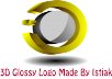 create a 3D logo Glossy Logo only