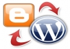 Moving from Blogger Blogspot to Wordpress is not very easy , This process need experience which i have. I am expert in Wordpress & other web scripts.  I will move your blog with any problem.