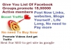 give You List Of Facebook Groups,promote 15,00000 members