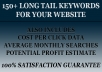 give you 150 long tail keywords for your website