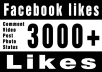 add GENUINE 3000+ photo video post comment status likes