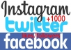 add 1000 LIKES or followers to your account