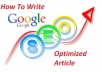 create Article unique seo in less than 48 hours