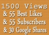 add 55 real YouTube Subscribes and likes
