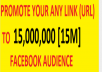 promote your any website to 15,000,000 facebook audience