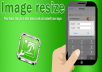 resize 500 image at once