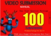 do 80 Manual Video Submission on Top video sharing sites, Online Marketing