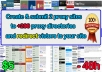 create and submit 2 proxy sites to 200 directories
