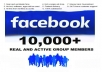 add 500 Real and Active Facebook Group Members in 24 hrs