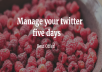 manage and make your Twitter account live