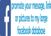 post and promote your message to my 1 Million Fb Members