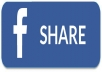 Give you 300+ Facebook Post Shares only