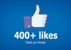 add real 400+ Facebook Fanpage Likes